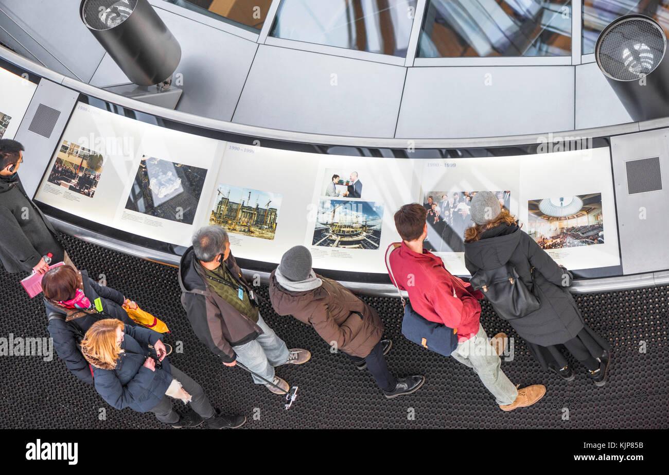 Tourists, visiting Bundestag Dome - Stock Image