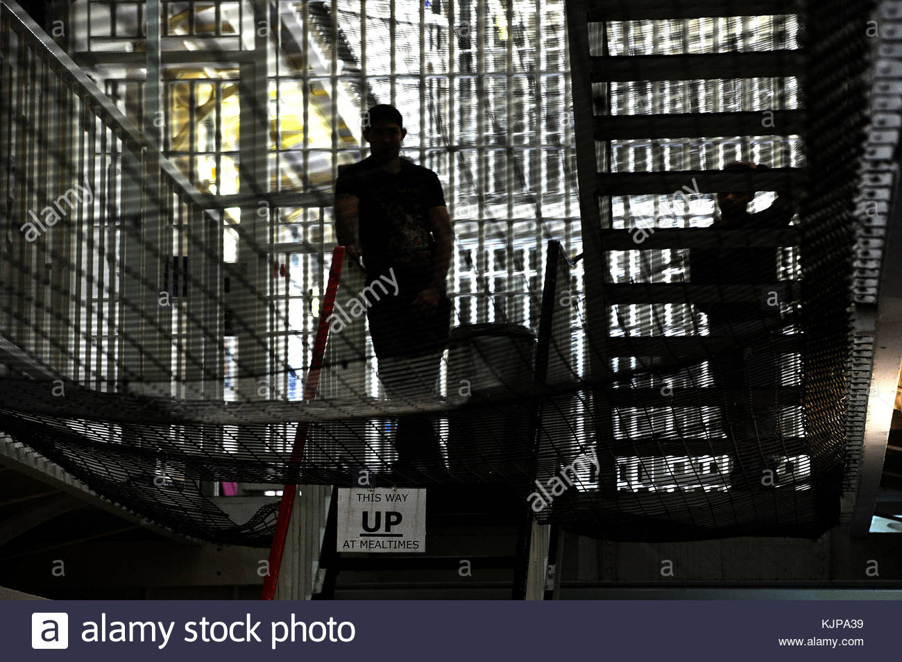 File photo dated 29/04/13 of a prison in London. There is no direct link between prison suicides and overcrowding - Stock Image
