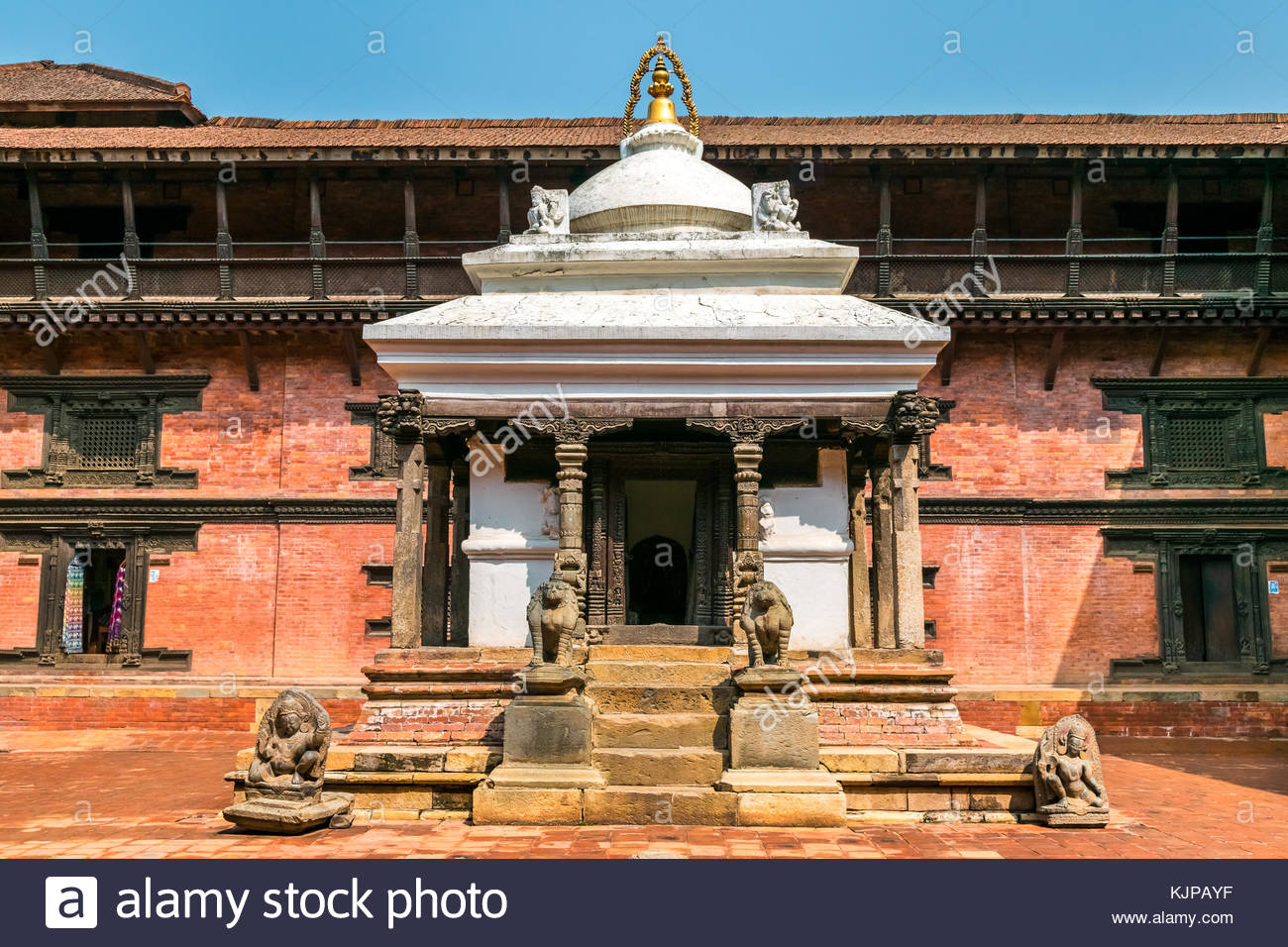 traditional building of old architecture nepalese in kathmandu. nepal Stock Photo