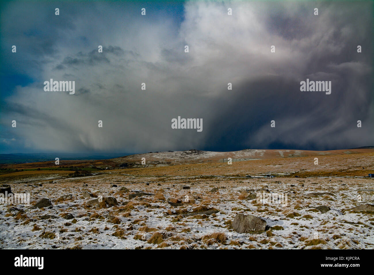 Princetown, Dartmoor, Devon, UK. 25th November 2017. UK Weather. With snow this morning, familes were out with sledges - Stock Image