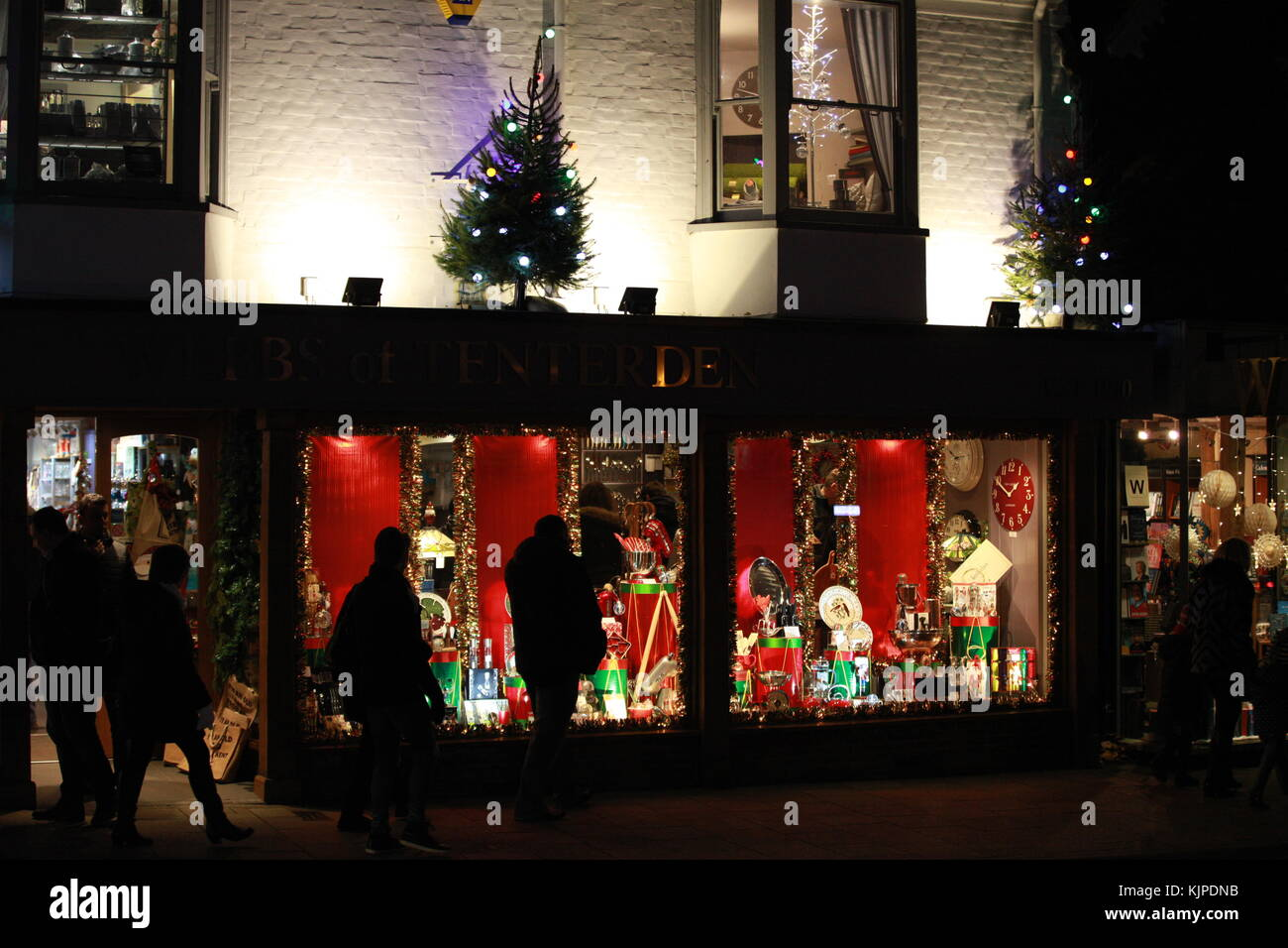 Tenterden, Kent, UK. 25th November 2017. A colourful Christmas Stock ...