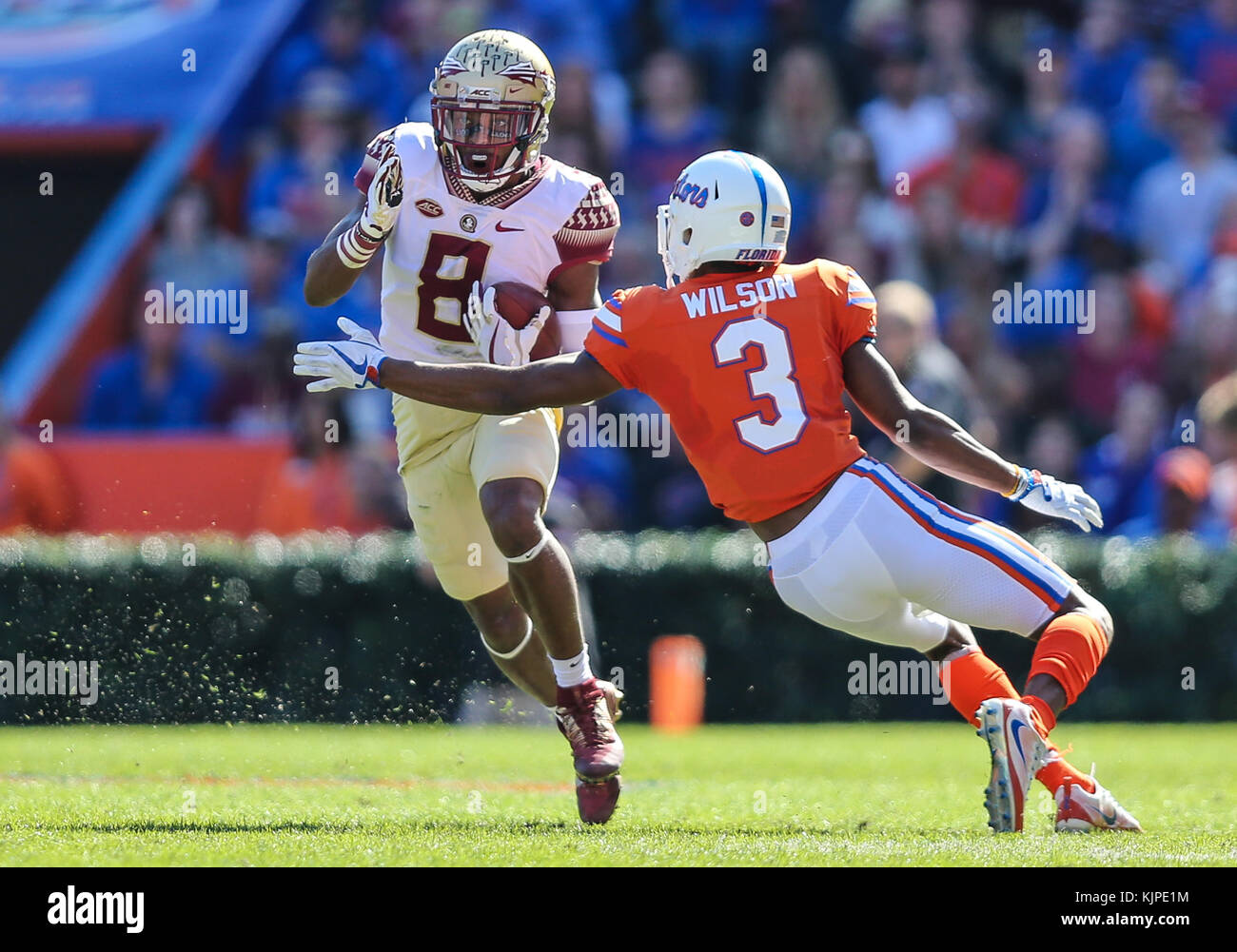 Florida, USA. 25th Nov, 2017. Florida State Seminoles wide receiver ...