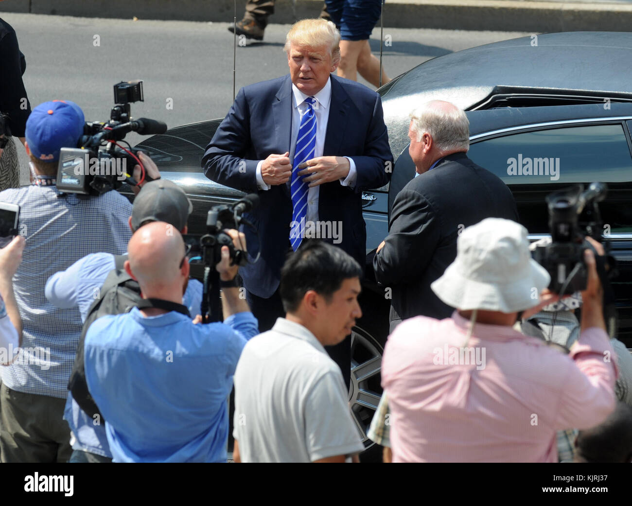 NEW YORK, NY - AUGUST 17: Republican Presidential hopeful Donald