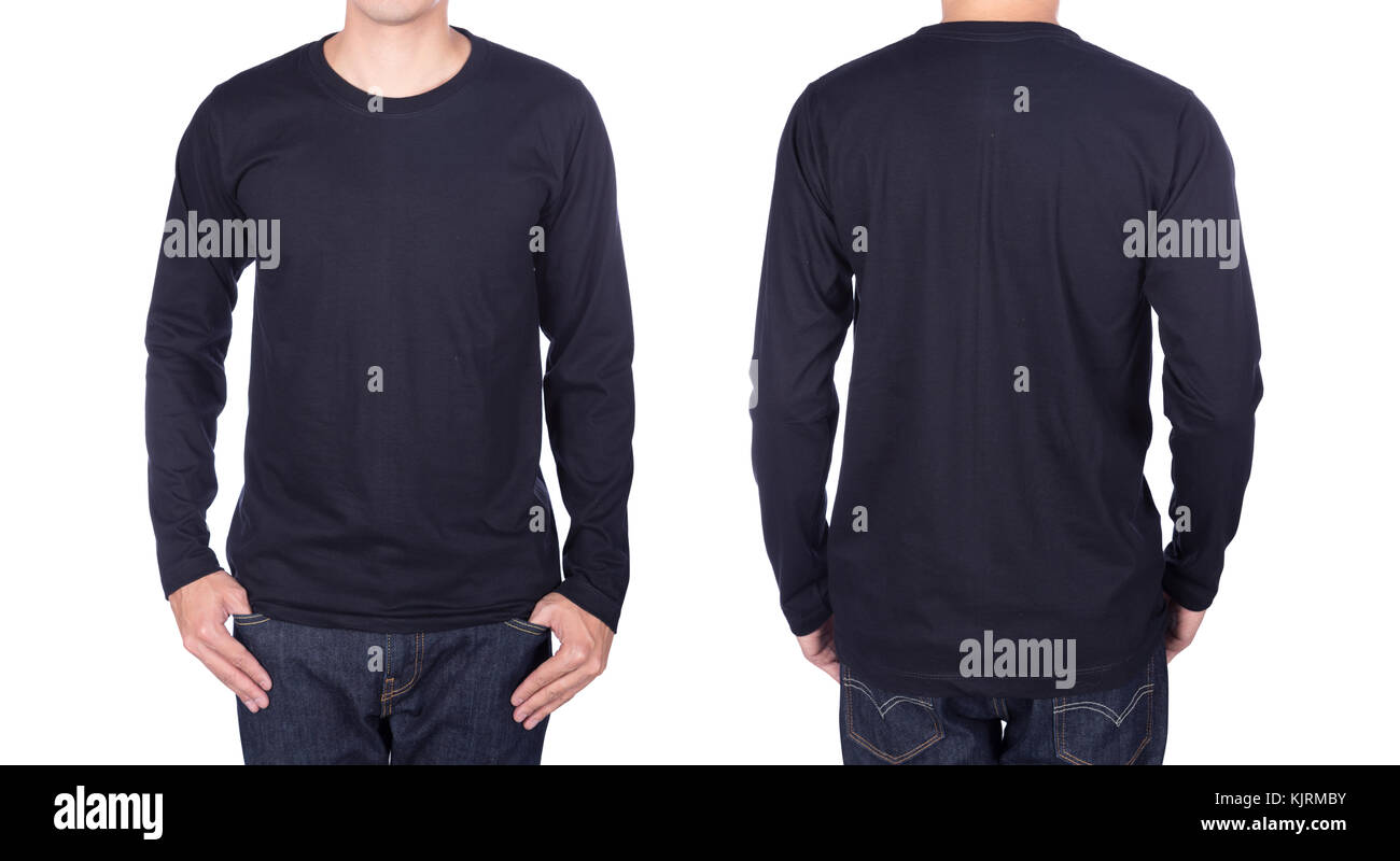 Black Long Sleeved T Shirt Template Cut Out Stock Images Pictures - Long sleeve t shirt template