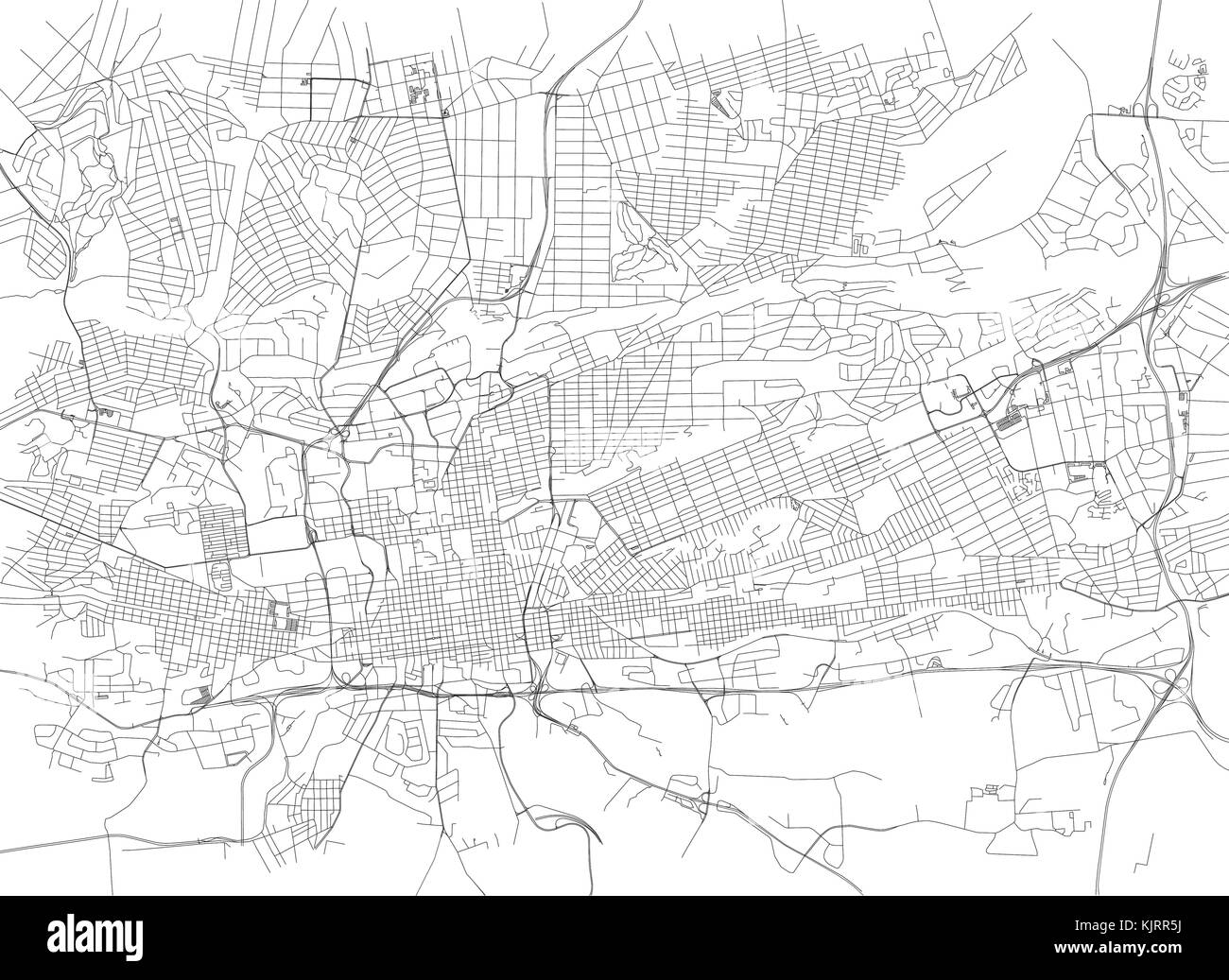 Map Of Africa Johannesburg.Streets Of Johannesburg City Map South Africa Street Map Stock