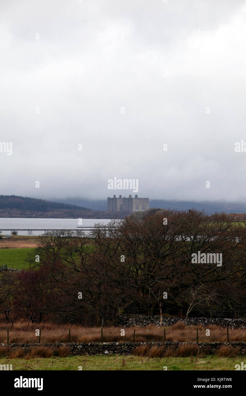 Wales, Trawsfynydd decommissioned nuclear power station Stock Photo