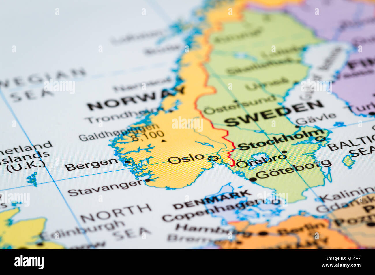 Scandinavia on a world map with oslo norway in focus stock photo scandinavia on a world map with oslo norway in focus gumiabroncs Images