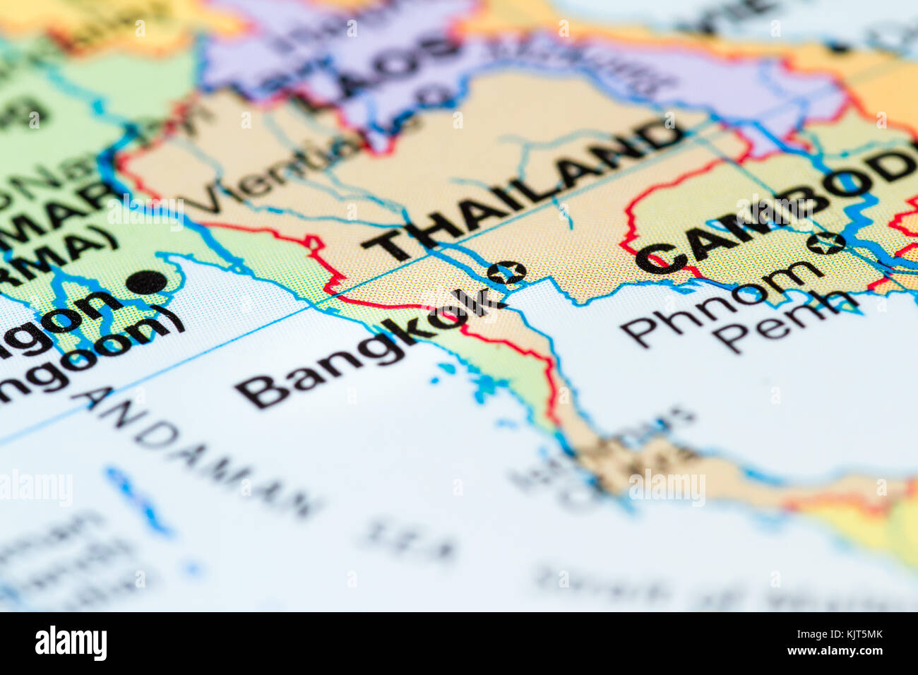 World map with a close up of bangkok thailand in focus stock photo world map with a close up of bangkok thailand in focus gumiabroncs Gallery