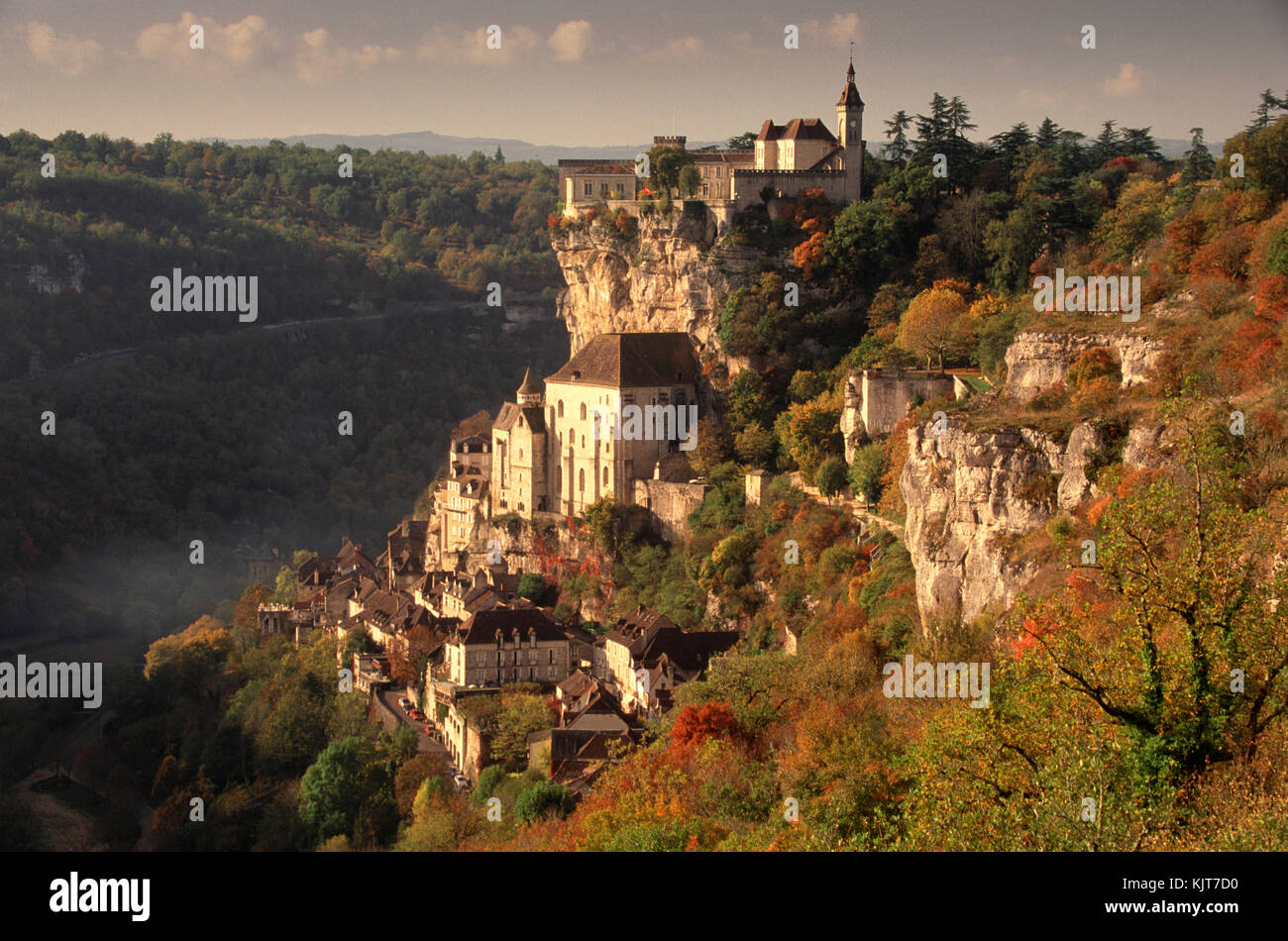 Picturesque village of Rocamadour in early autumn, Haut Quercy, Lot, Midi-Pyrenees, France - Stock Image