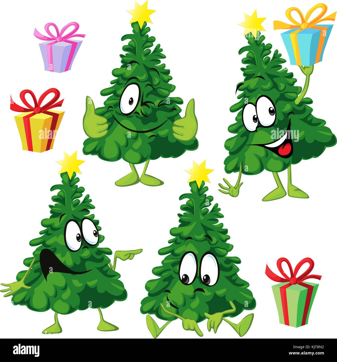 funny xmas tree with hand and face vector illustration drawing rh alamy com funny christmas tree clip art Small Rose Clip Art