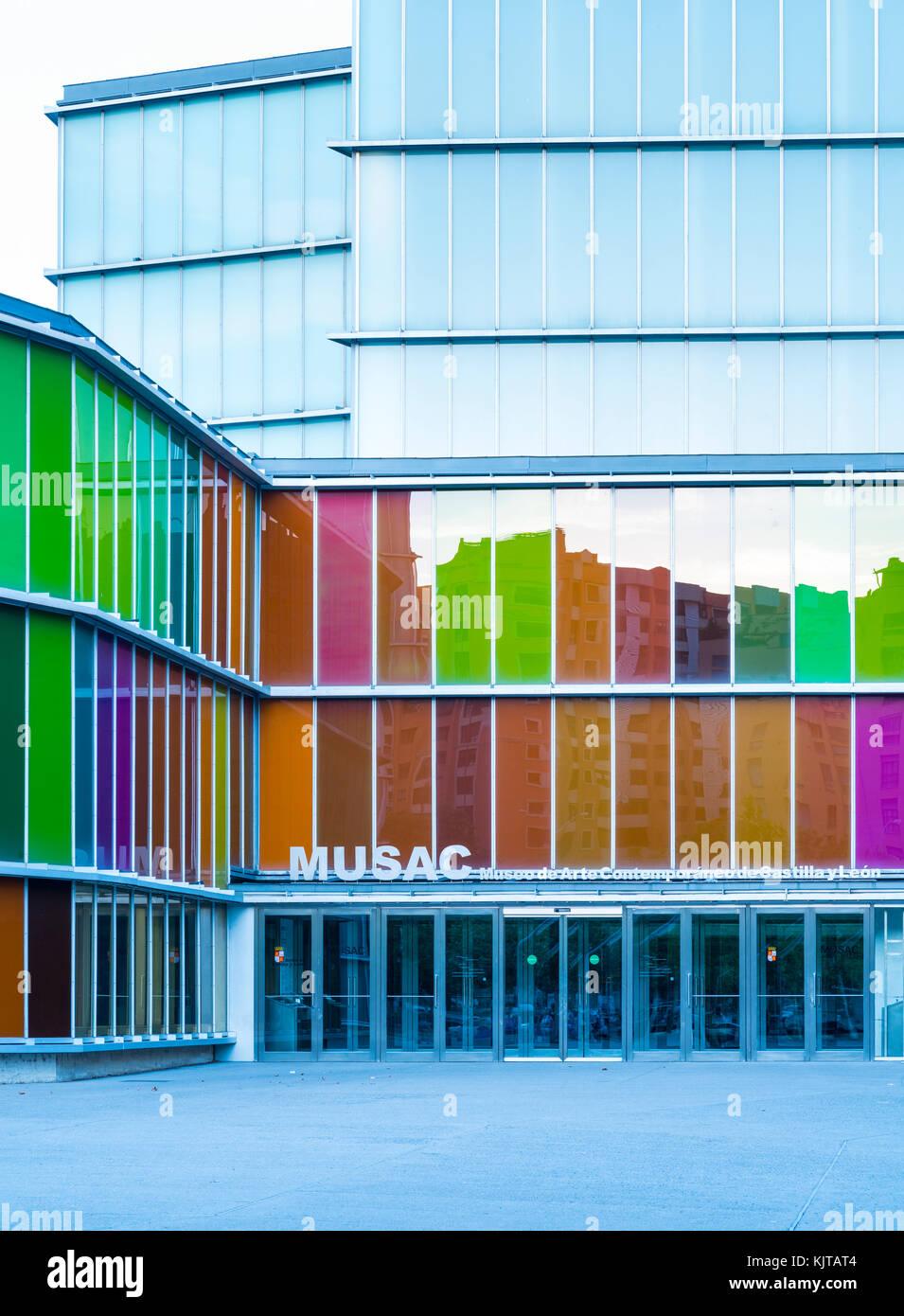 MUSAC Museo de Arte Contemporaneo de Castilla y Leon, Leon city, Leon province, Castilla y Leon, Spain, Europe - Stock Image