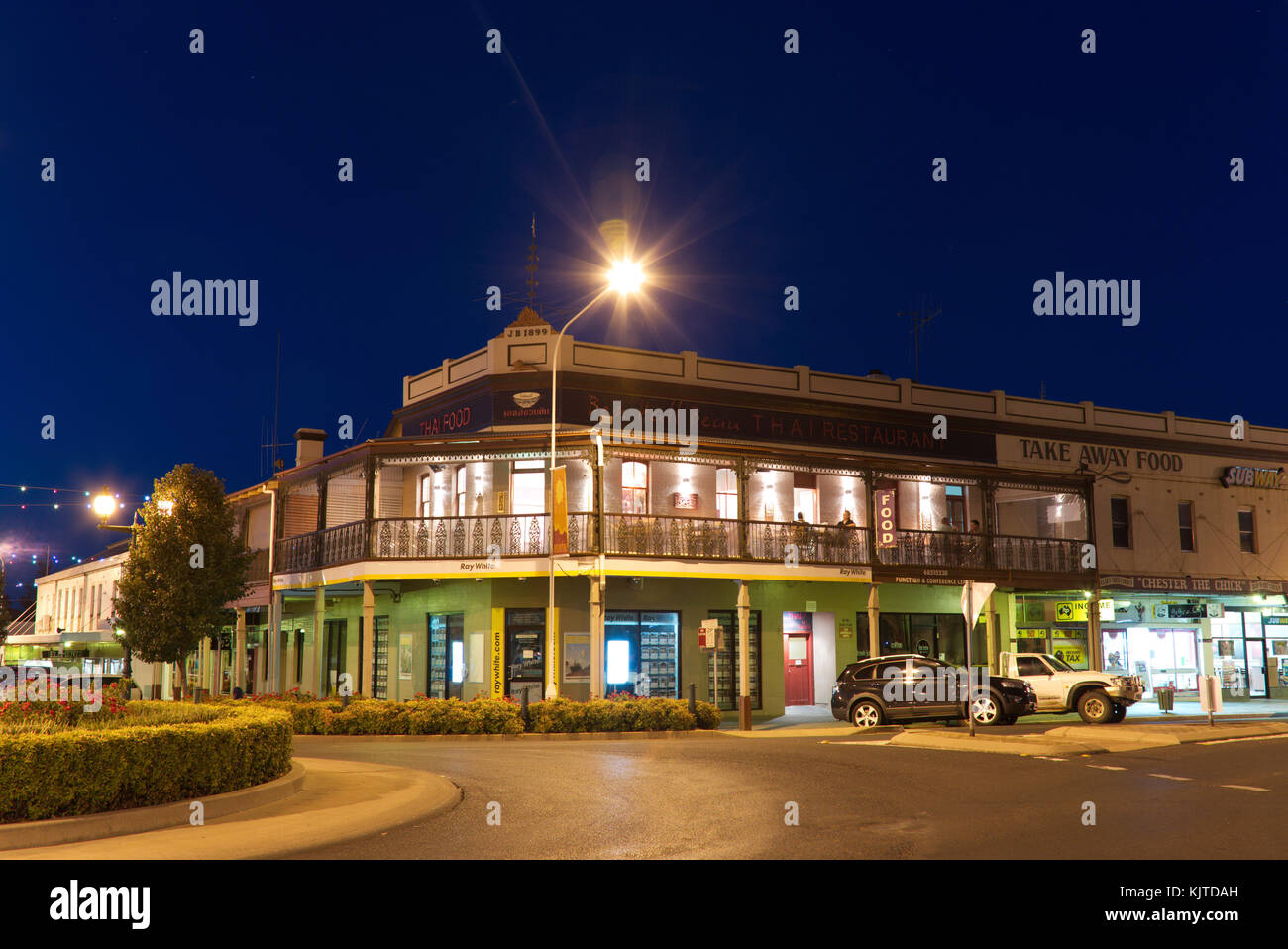 Thai Restaurant in former Victoria Hotel building Forbes New South Wales Australia - Stock Image