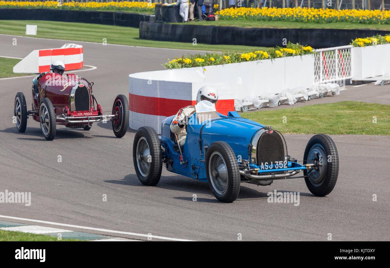 Bugatti Goodwood Revival, Historic motor racing - Stock Image