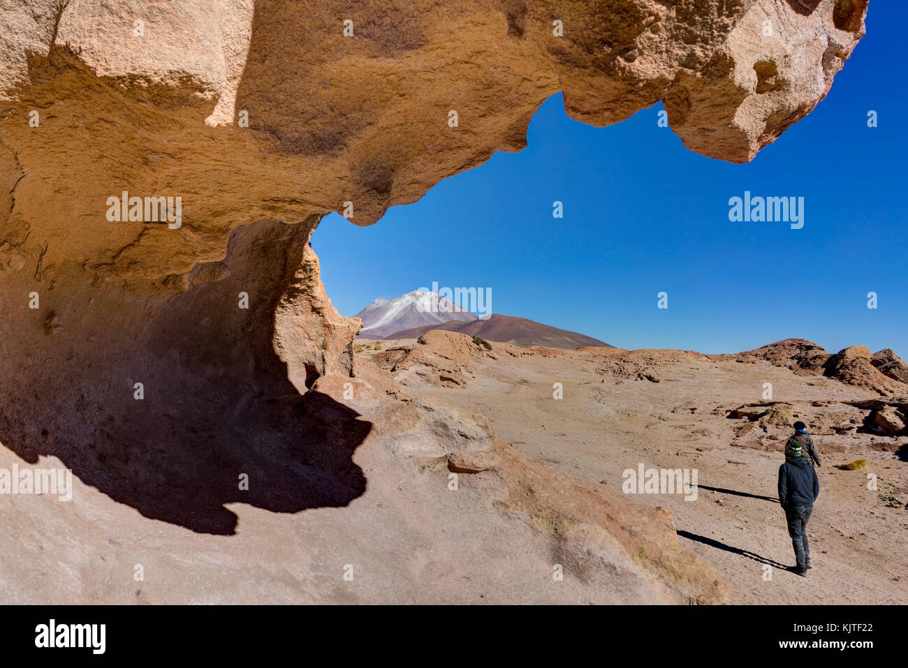 Photo taken in August 2017 in Altiplano Bolivia, South America: Valley of the stones Altiplano Bolivia Desert Salar - Stock Image