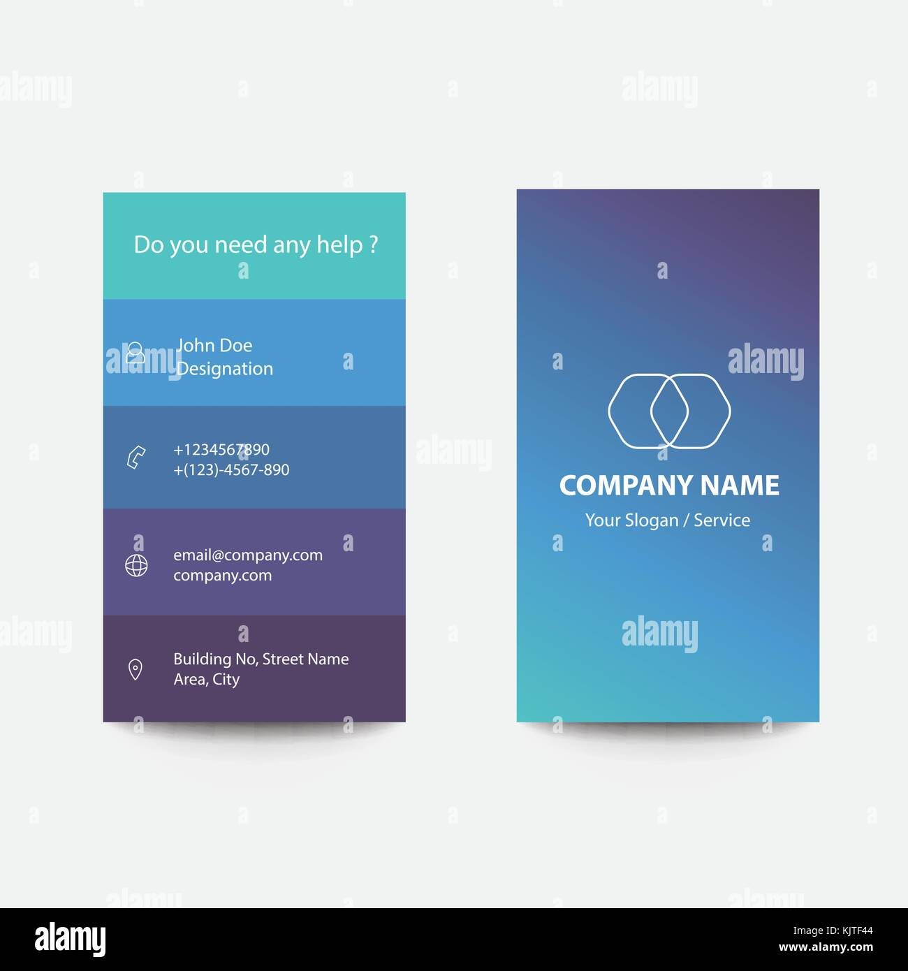 Clean Flat Design Business Card with Creative Concepts and Modern ...