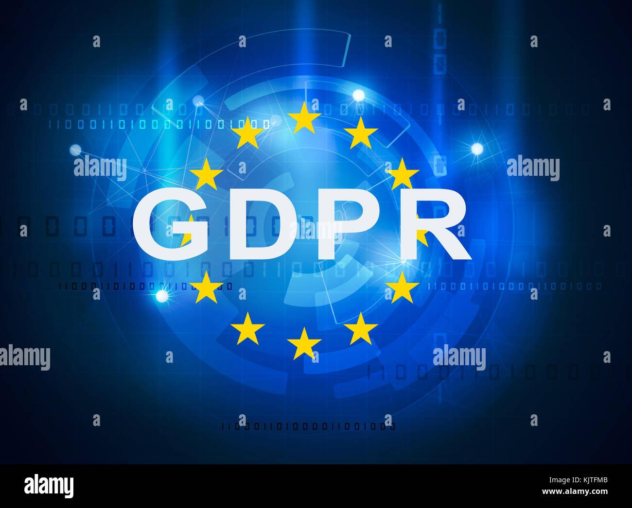 GDPR general data protection regulation - Stock Image