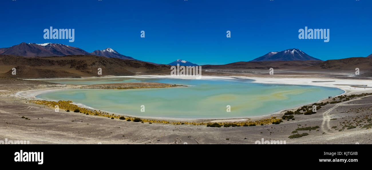 Photo taken in August 2017 in Altiplano Bolivia, South America: Panorama Laguna Verde Altiplano Bolivia - Stock Image