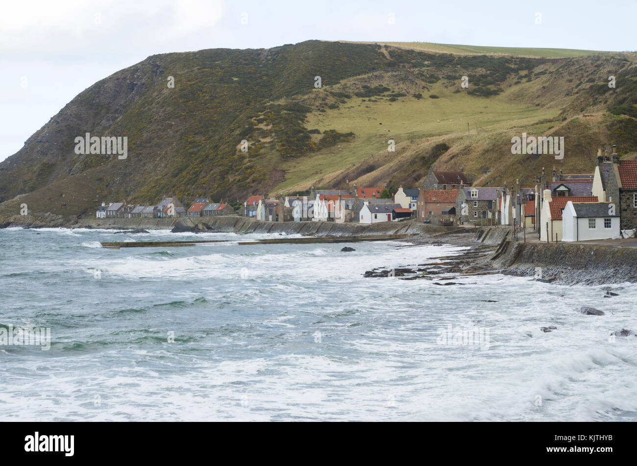 Small fishing village of Crovie, Abereenshire, Scotland, Great Britain Stock Photo