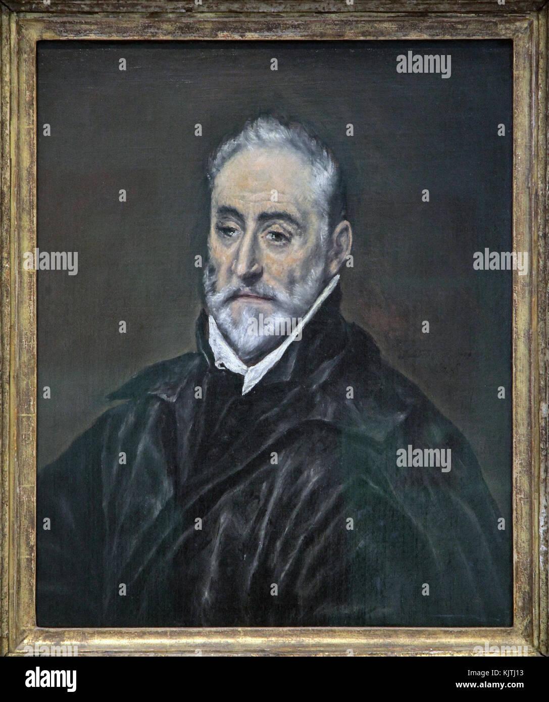 Portrait of Antonio de Covarrubias y Leiva by El Greco.Domenikos Theotocopoulos 1541-1614. - Stock Image