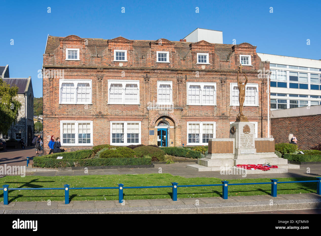 Dover Town Council, Maison Dieu House, Biggin Street, Dover, Kent, England, United Kingdom - Stock Image