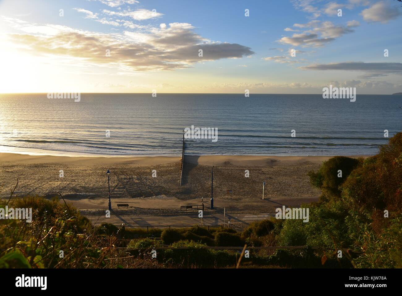 26th November, 2017 Bournemouth, UK A beautiful view of Bournemouth pier and landscape on a sunny autumn day.26th - Stock Image