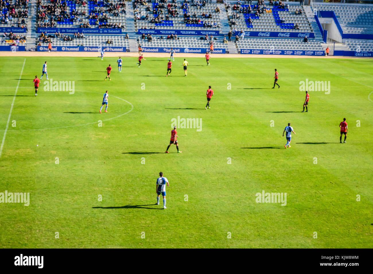 Sabadell, Spain. 26th Nov, 2017.  Football/Soccer : Spain '2ªB' match between CE Sabadell and SD Formentera, - Stock Image