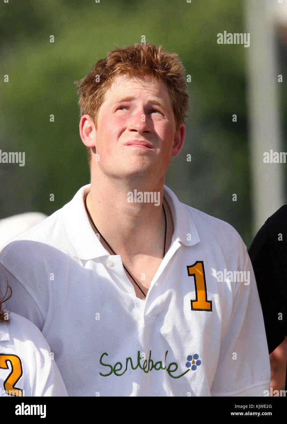 New York, USA. 30th May, 2009. Britain?s Prince Harry pictured during the Manhattan Polo Classic match on Governors Stock Photo