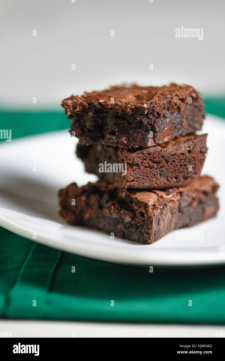Girl Scout Thin Mint Brownies - Stock Image