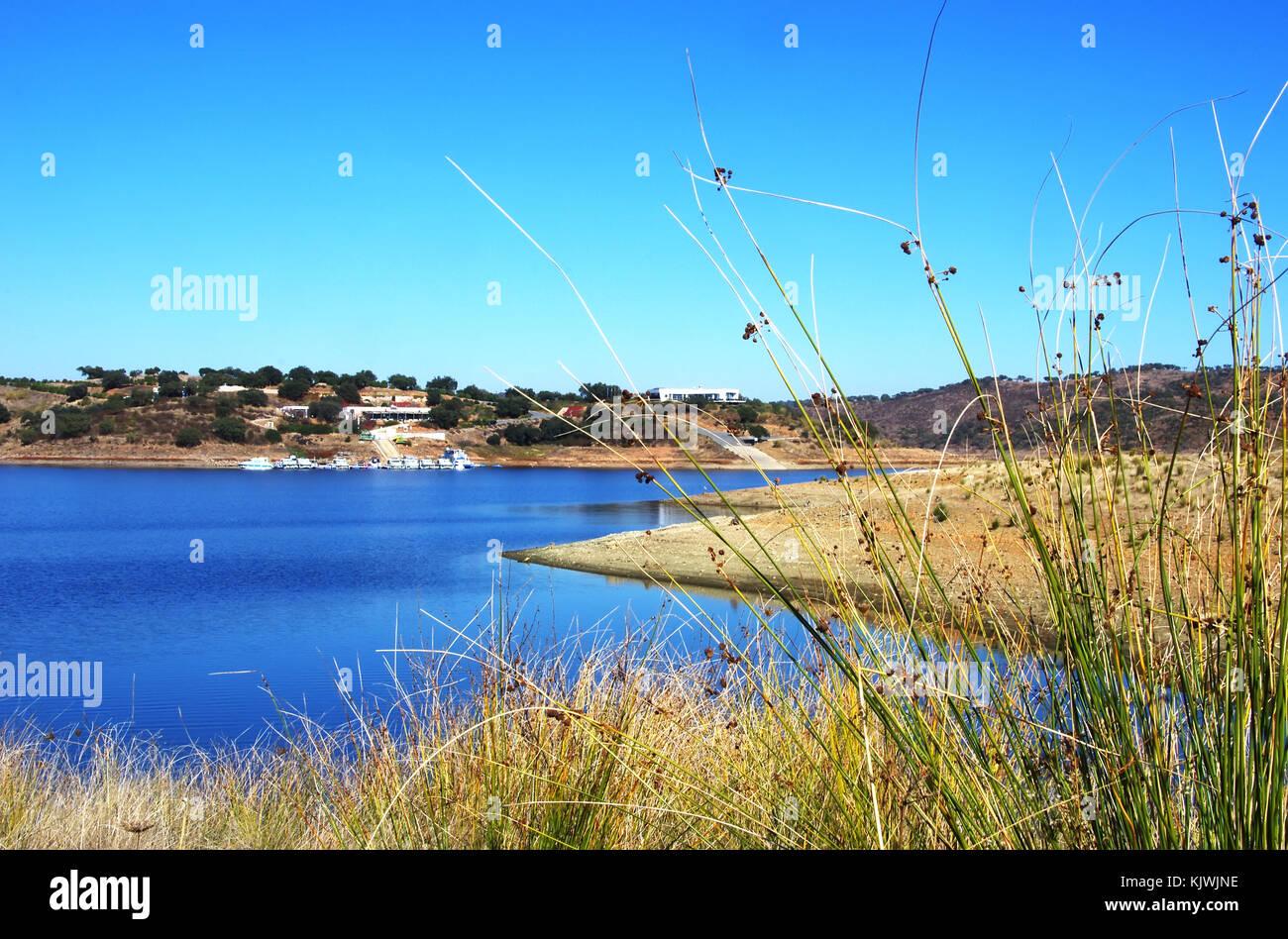 Landscape of Amieira marina, Alentejo, Portugal Stock Photo