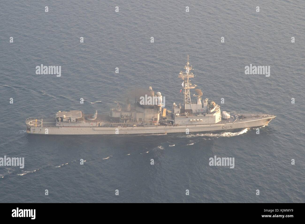 The French Navy Cassard-class anti-air defense destroyer frigate FS Jean Bart steams underway September 19, 2017 - Stock Image