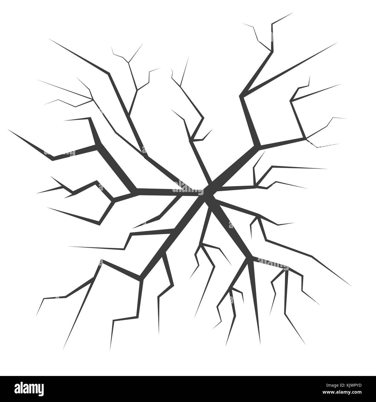 Cracked backgrond illustration - Stock Image