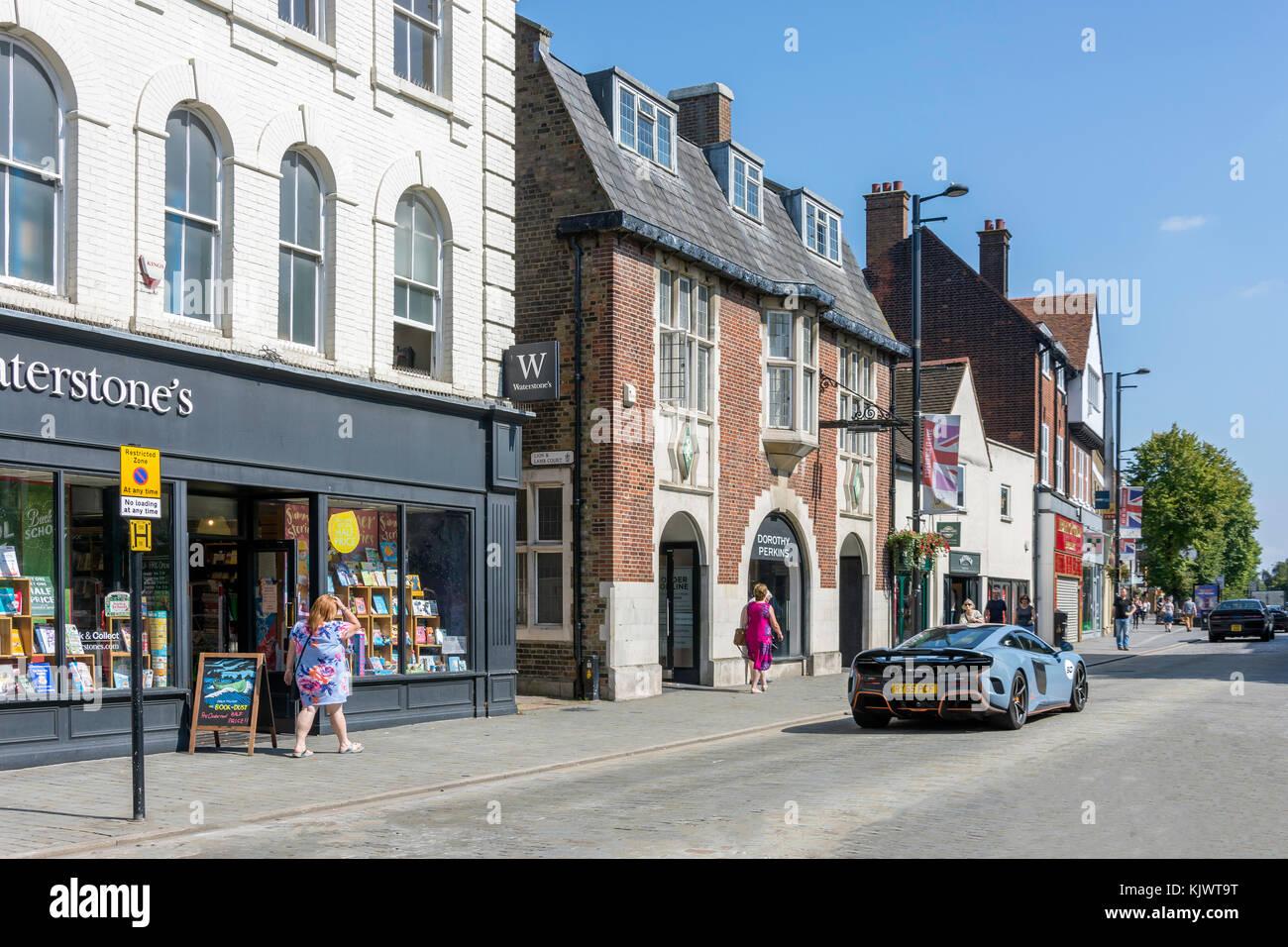 High Street, Brentwood, Essex, England, United Kingdom - Stock Image