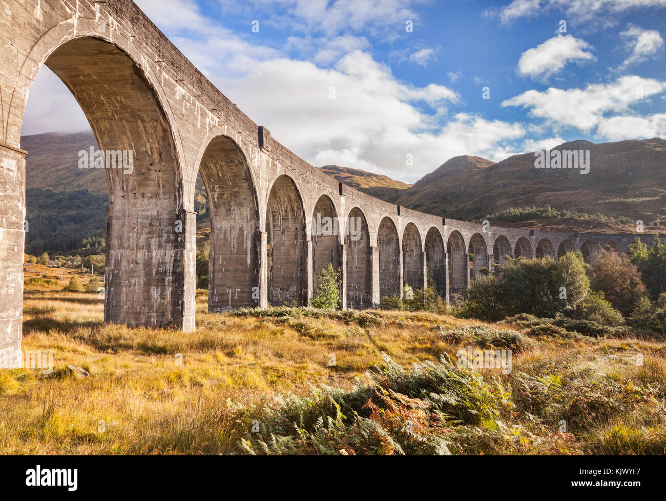 Glenfinnan Viaduct, Lochaber, Highland, Scotland. UK - Stock Image