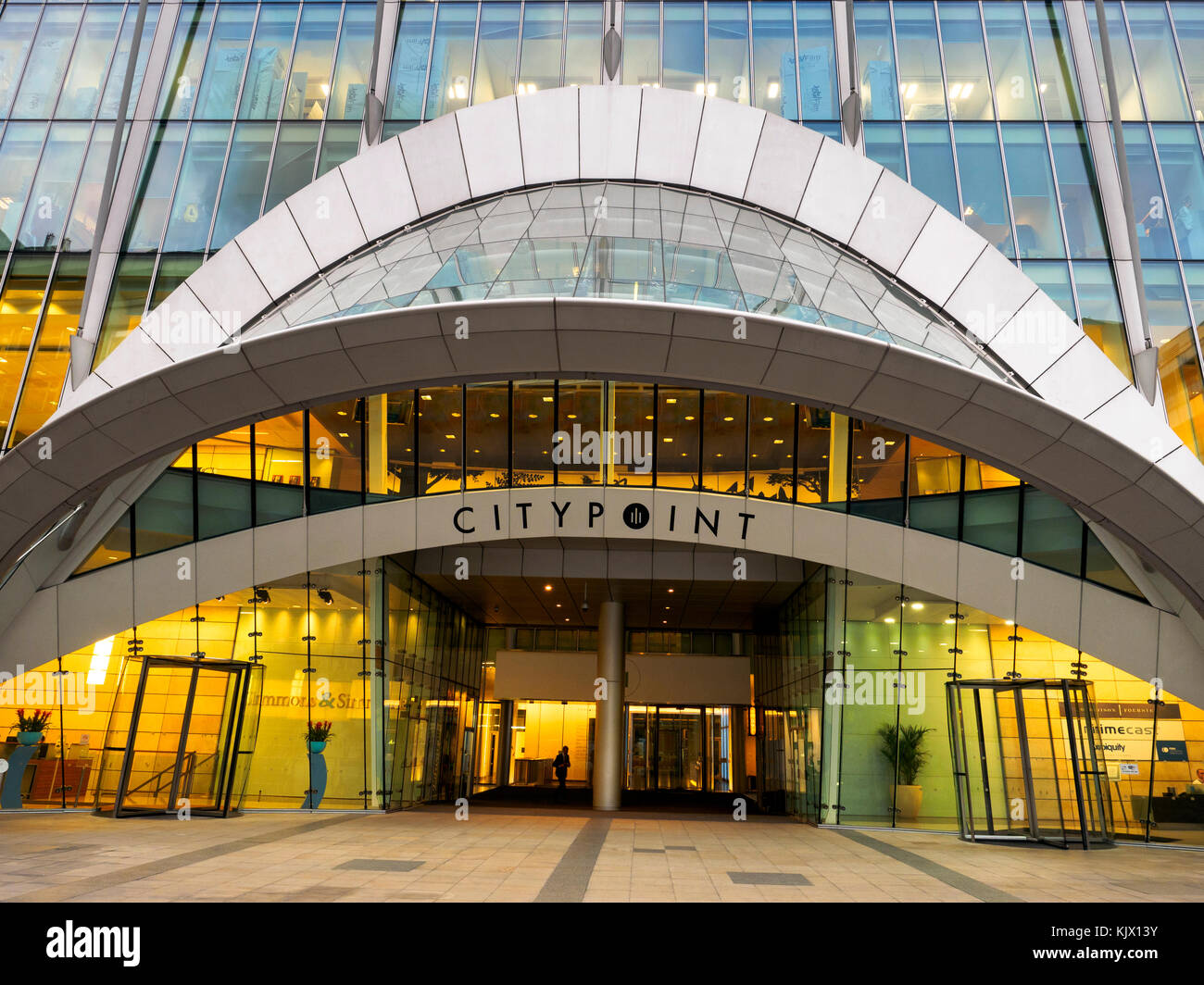 CityPoint (previously known as Britannic House and Britannic Tower) building - London, England - Stock Image