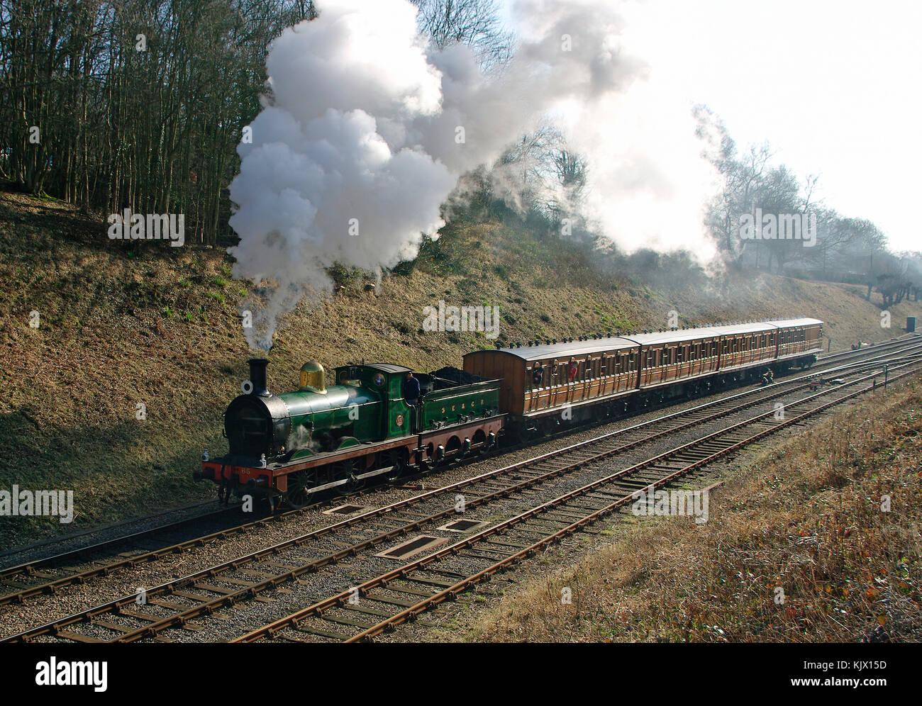 SECR O Class Locomotive Number 65 - Stock Image