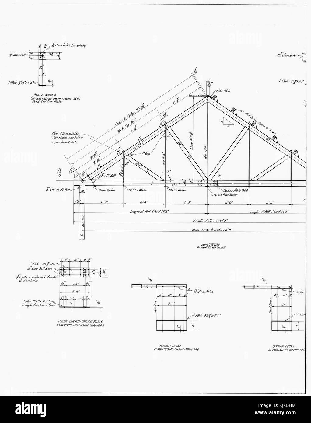 29 Photocopy Of Drawing Power Plant Details Roof Truss Stock Line Diagram Pictures Boiler Unit Kennecott Copper Corporation On R Loc Hhhak0003photos001002p
