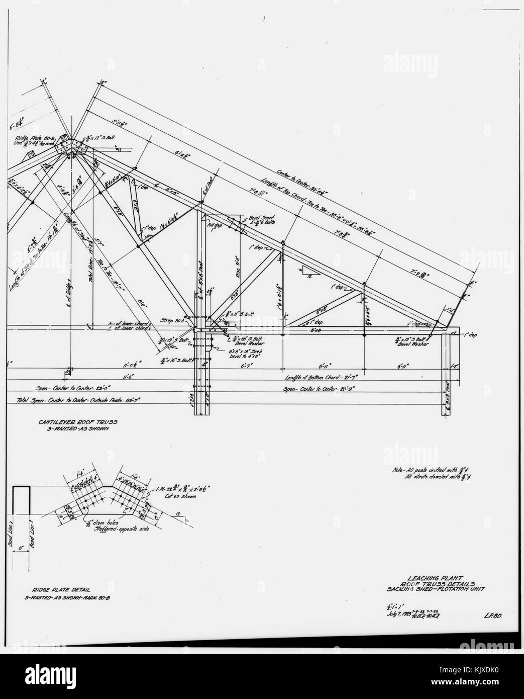51 Photocopy Of Drawing Ammonia Leaching Plant Roof Truss