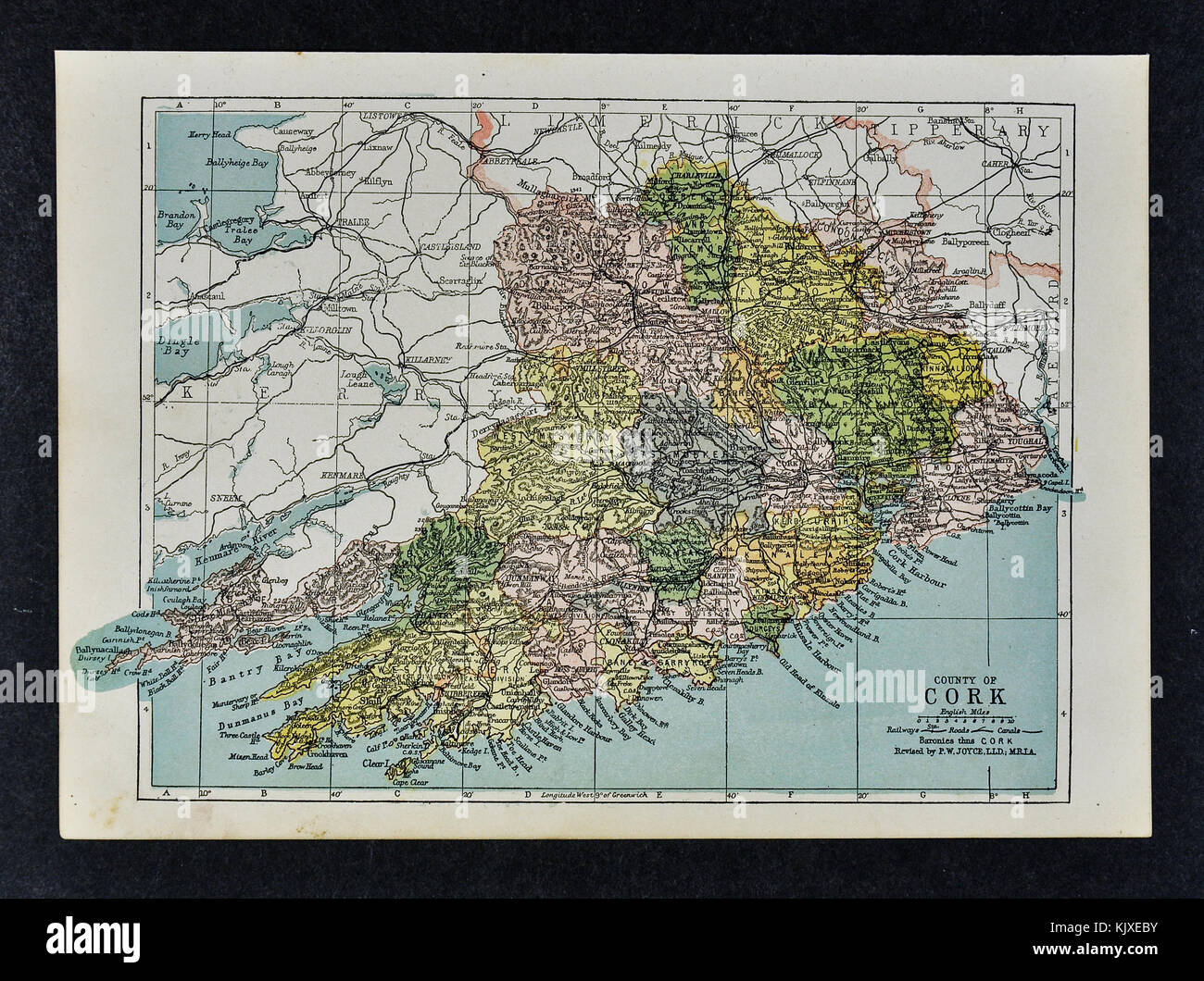 Old map of cork stock photos old map of cork stock images alamy antique ireland map cork county bantry dunmanway youghal skull skibereen kanturk stock image gumiabroncs Choice Image