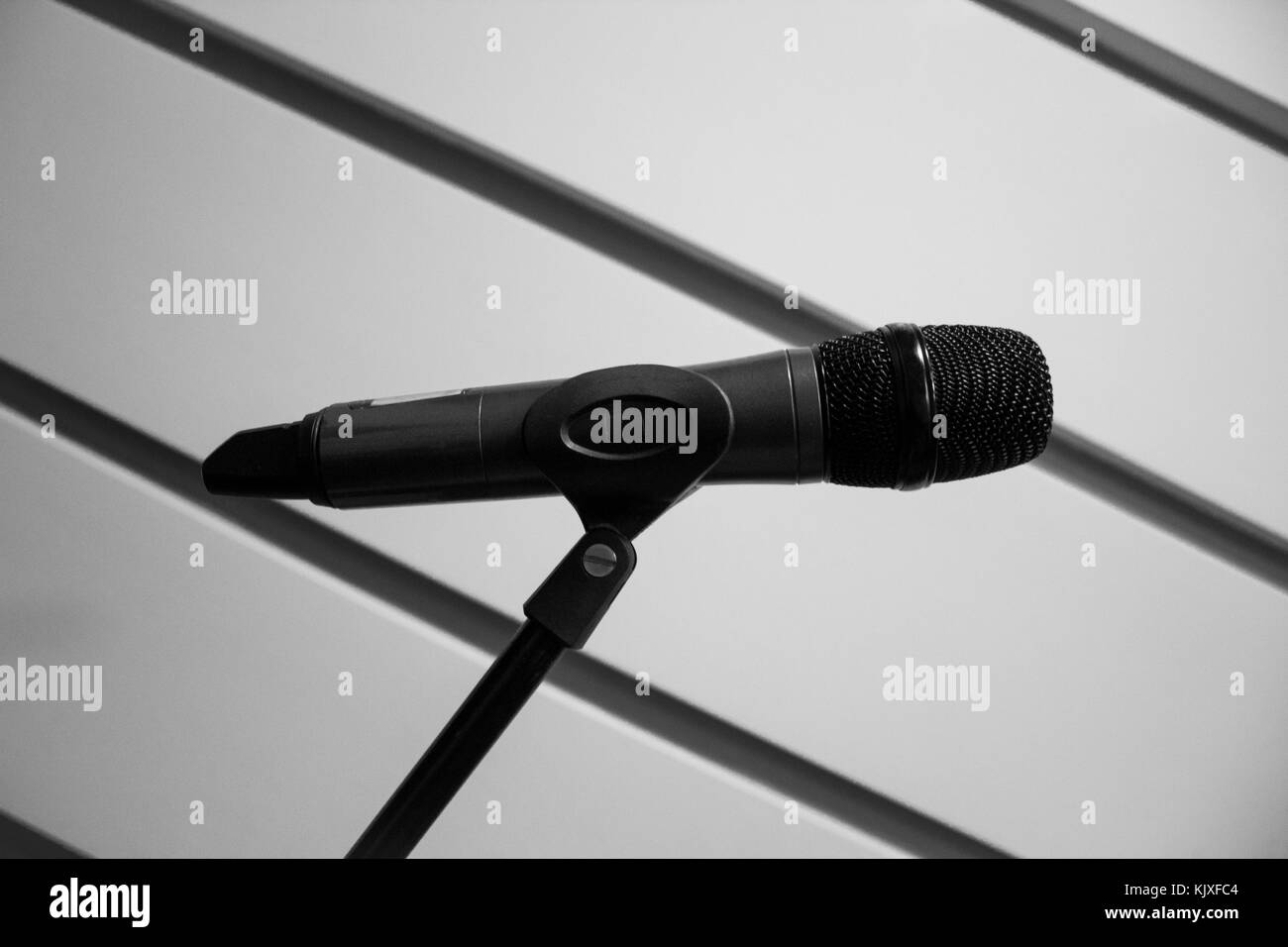 Close up of a microphone - Stock Image
