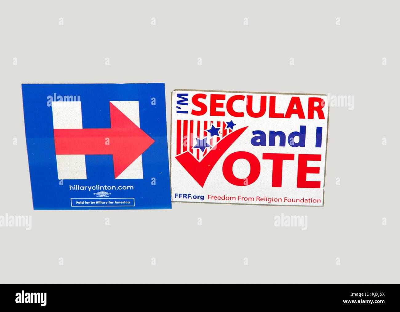 Progressive Political Bumper Sticker - Stock Image
