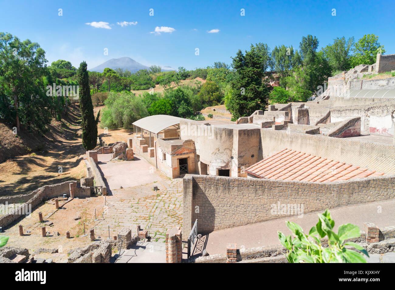 ruins of Pompeii, Italy - Stock Image