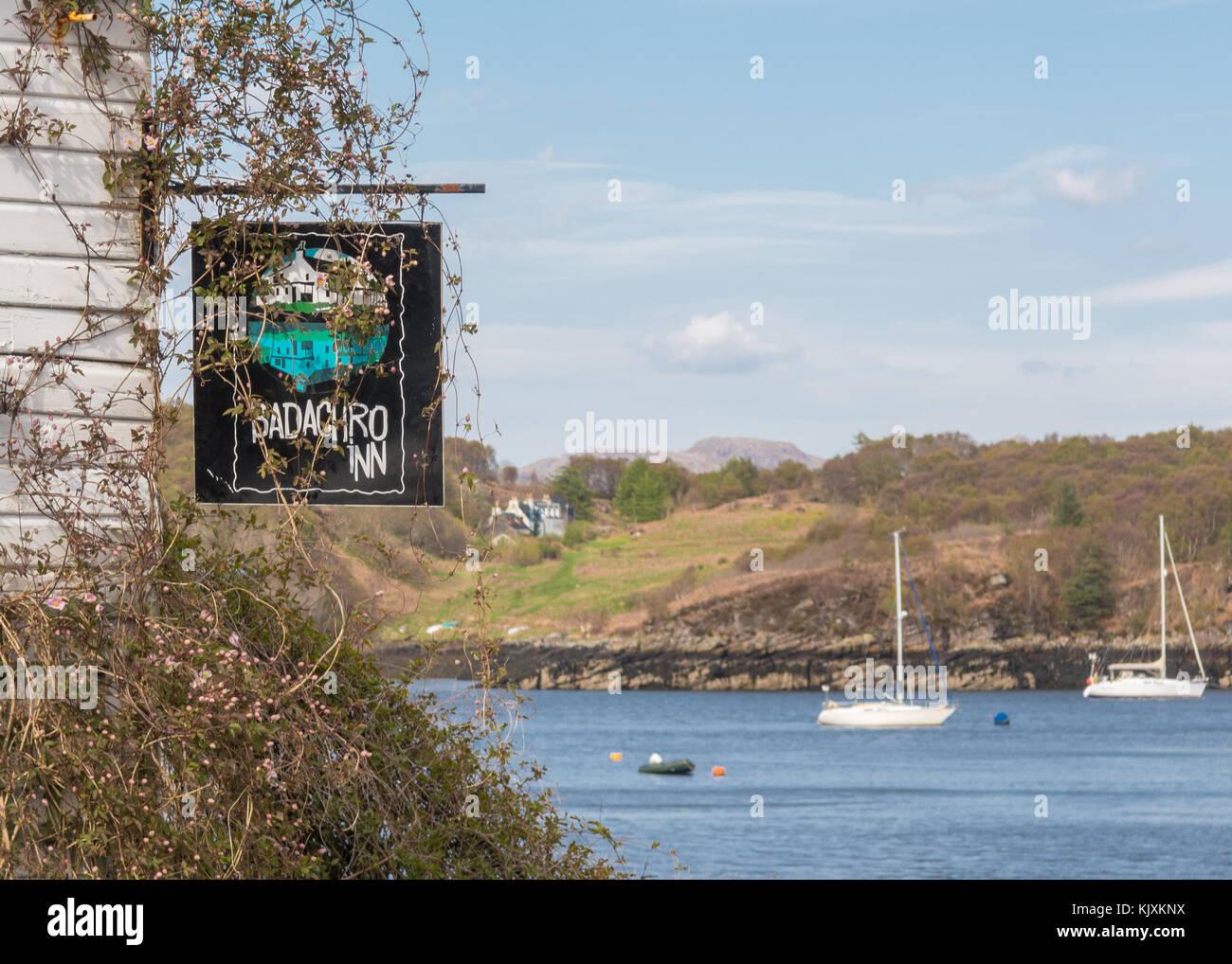 Badachro Inn, Badachro, Gairloch, Ross-shire, Scotland, UK - Stock Image