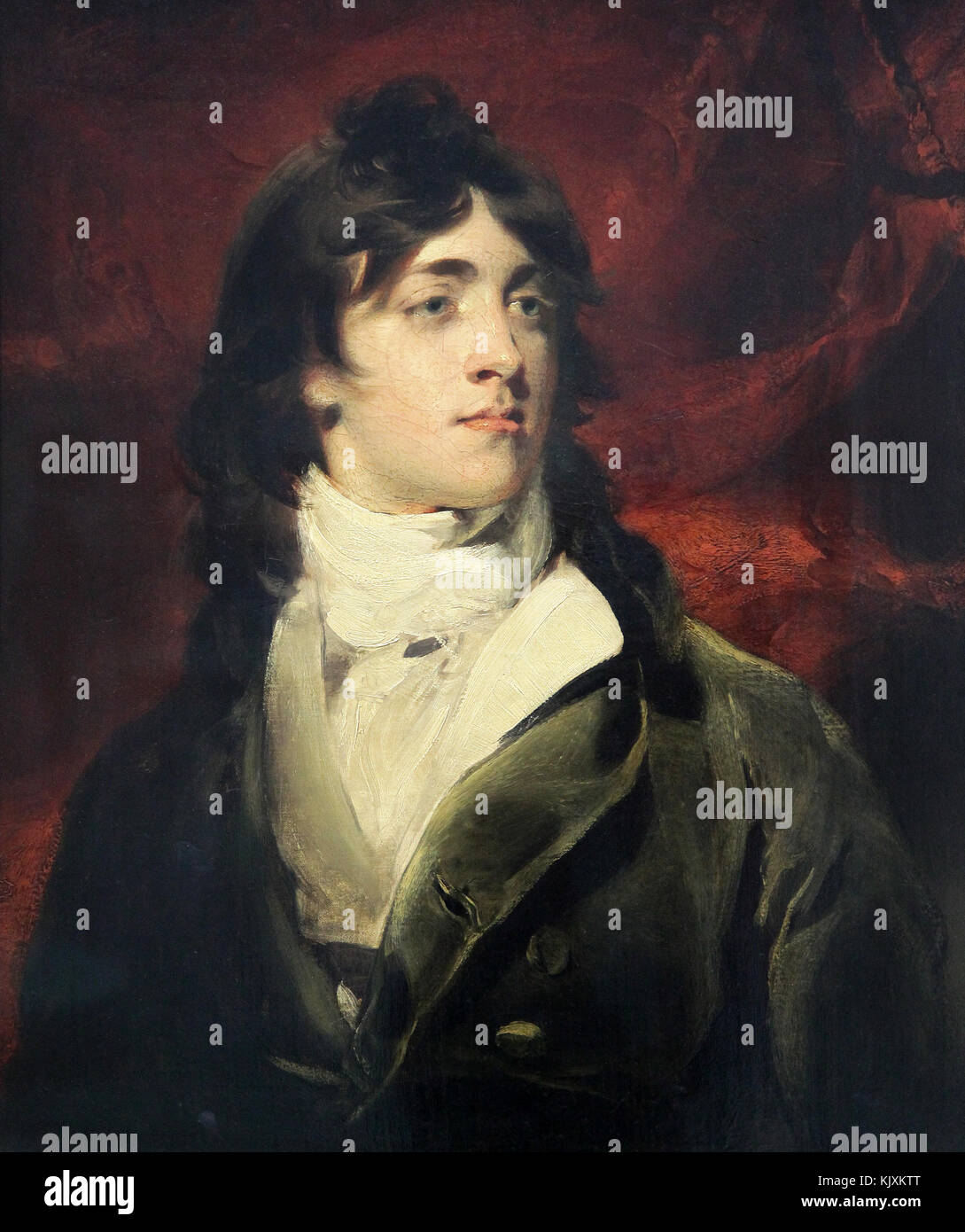 Portrait of Charles William Bell 1798 by Sir Thomas Lawrence (1769 – 1830) a English portrait painter - Stock Image