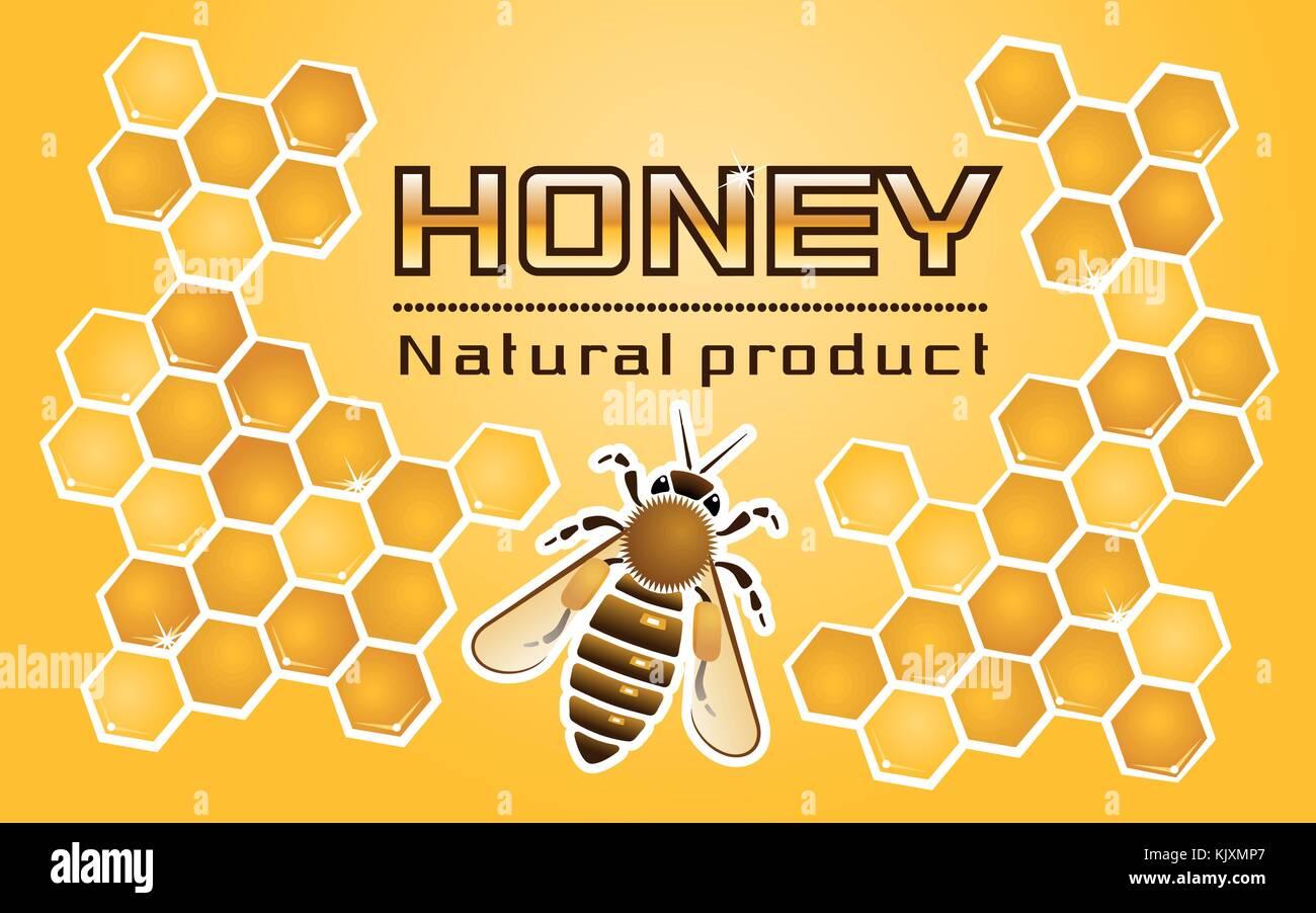 'Honey' Label - Stock Vector