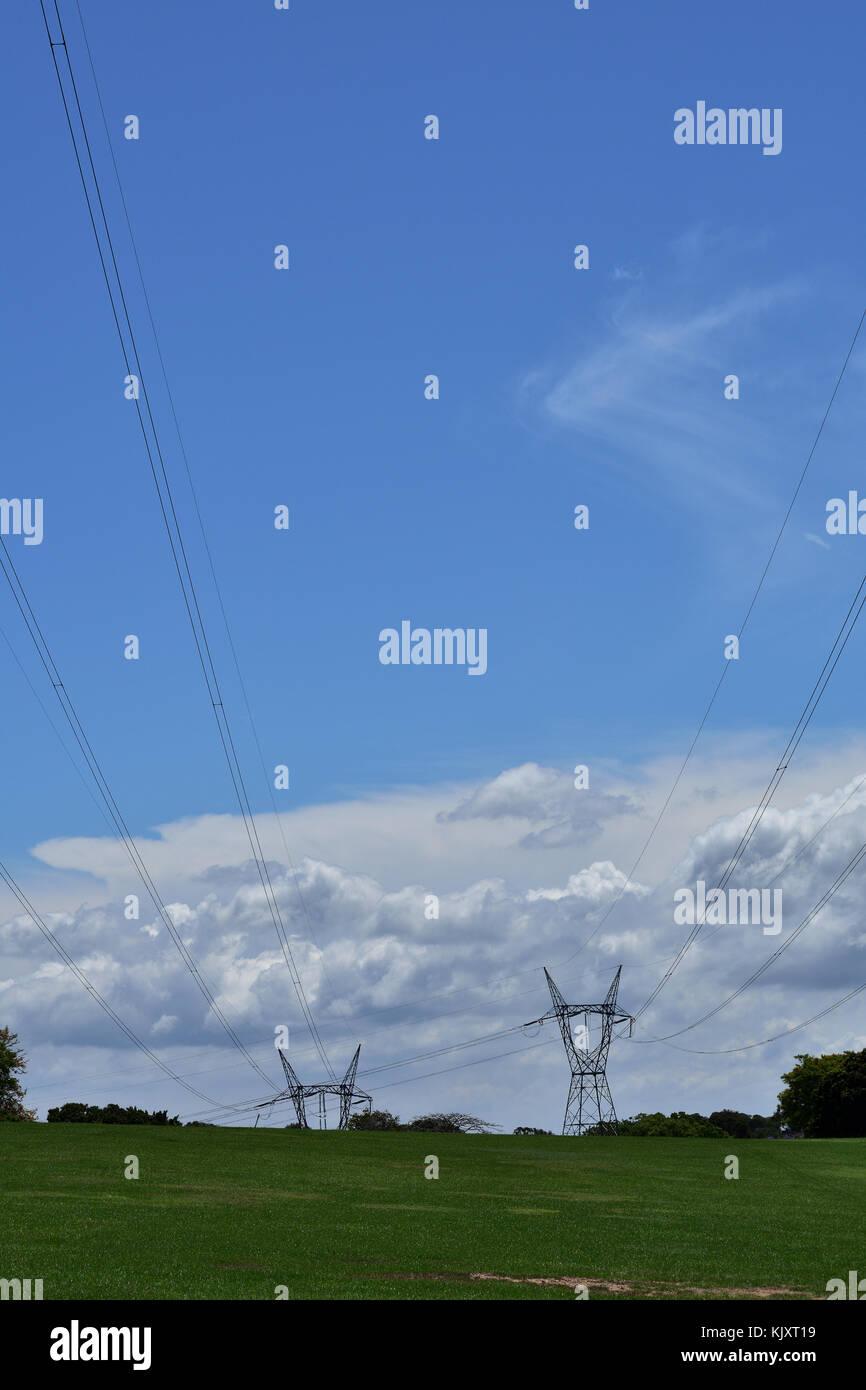 Australian Electricity Powerlines - Stock Image