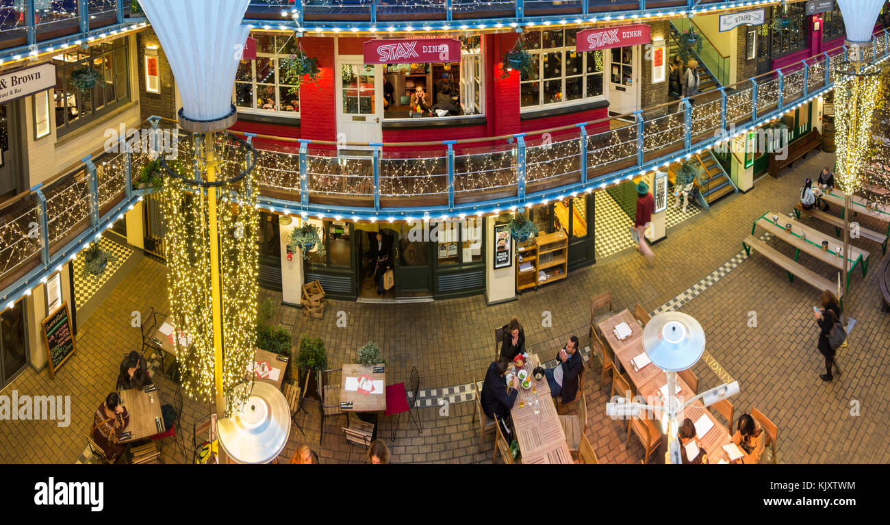 The world's first covered Mall - Burlington Arcade at Christmas time Stock Photo