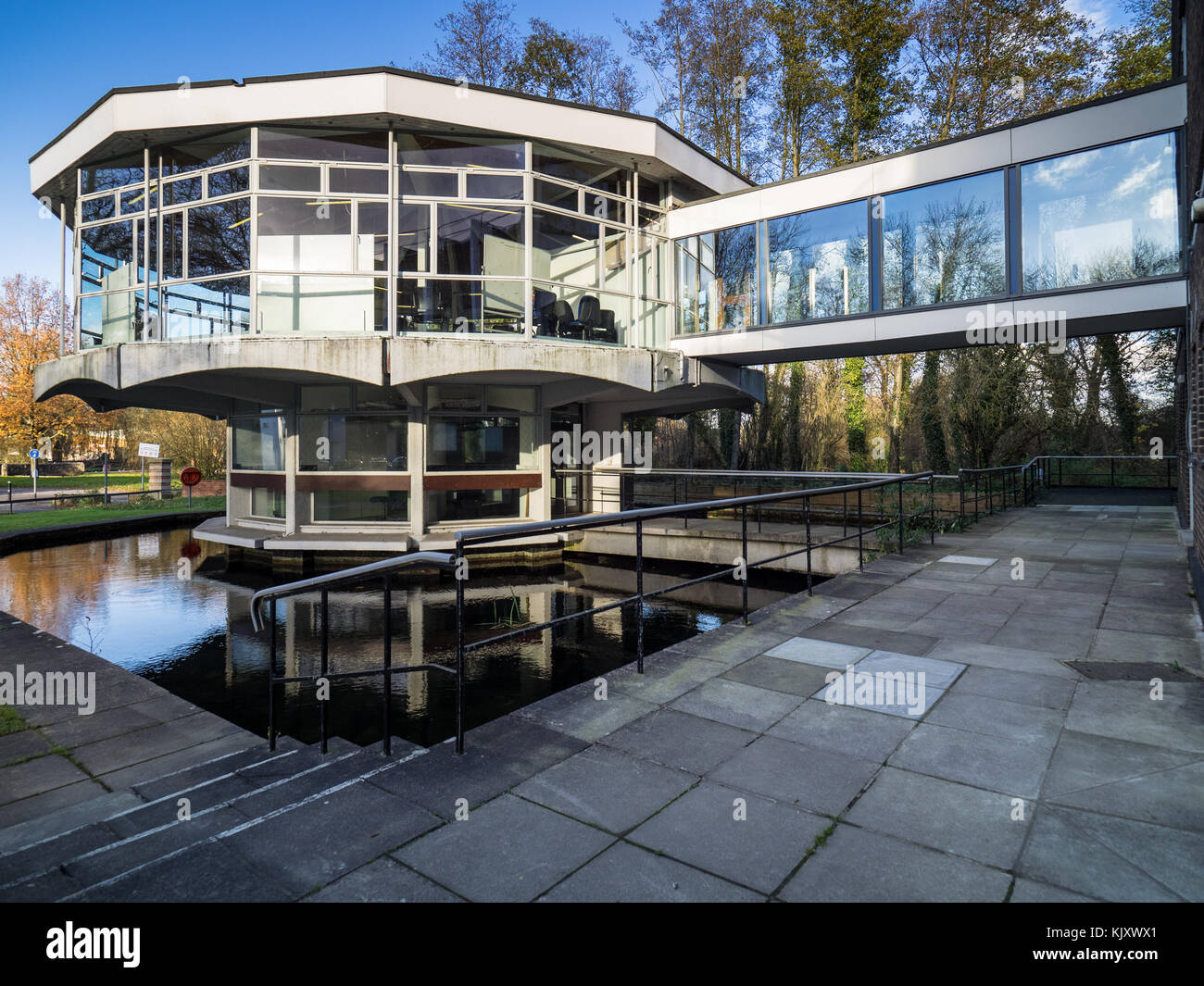 The Rotunda, Winchester School of Art, part of the University of Southampton, in Winchester UK. Opened in 1965, - Stock Image