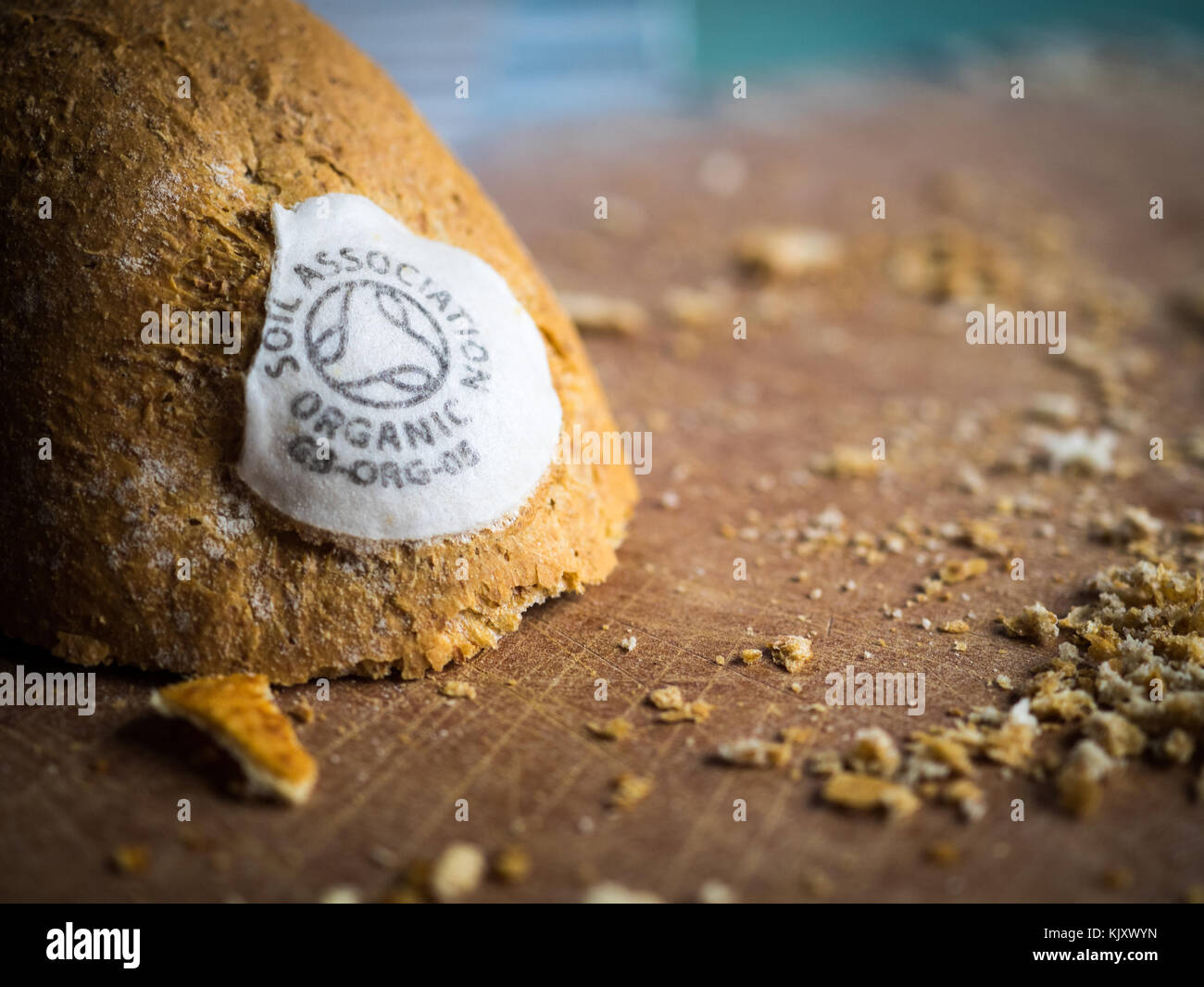 Soil Association Certified / Labelled Organic Bread - Stock Image