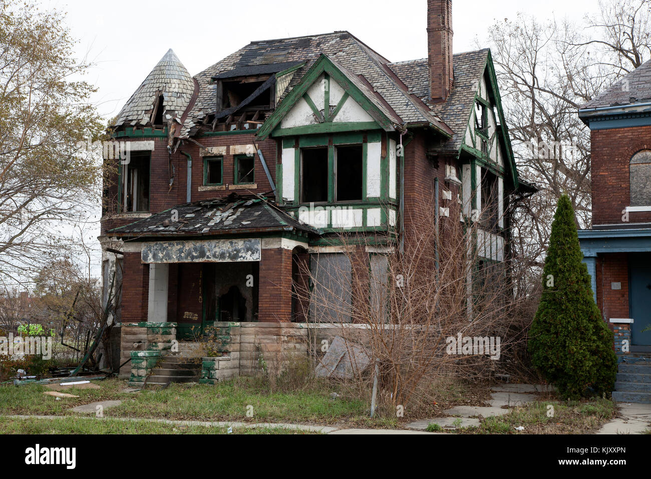 Urban Decay Detroit Michigan Usa By James D Coppinger Dembinsky Stock Photo Alamy