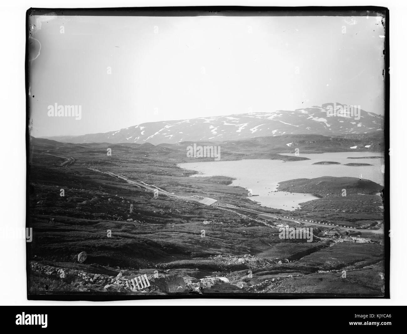 Fjellvidde med ett fjellvann   NB MS G4 0830 - Stock Image